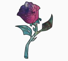 Stained Glass Rose Galaxy One Piece - Short Sleeve