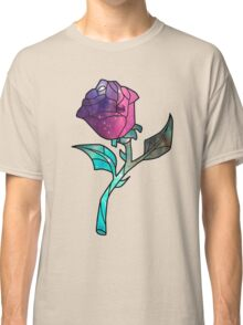 Stained Glass Rose Galaxy Classic T-Shirt