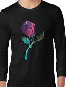 Stained Glass Rose Galaxy Long Sleeve T-Shirt