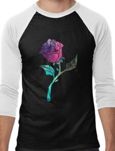 Stained Glass Rose Galaxy Men's Baseball ¾ T-Shirt