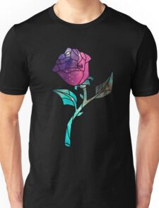 Stained Glass Rose Galaxy Unisex T-Shirt