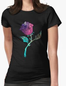 Stained Glass Rose Galaxy T-Shirt