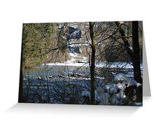 Hemple Creek Picnic Area in Winter Greeting Card
