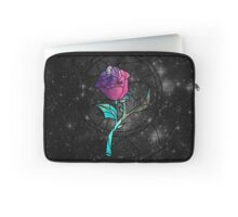 Stained Glass Rose Galaxy Laptop Sleeve