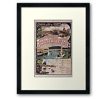 Gustave Fraipont Argenteuil Mantes affiche Chemins de fer Framed Print