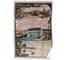 Gustave Fraipont Argenteuil Mantes affiche Chemins de fer Poster