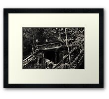 Spanish Castle Dreams II [split tone] Framed Print