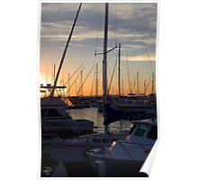 'Docked' - Hillarys Boat Harbor, Perth Poster