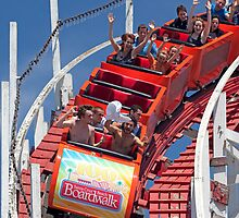 Wooden Roller Coaster (Santa Cruz, California) by Brendon Perkins