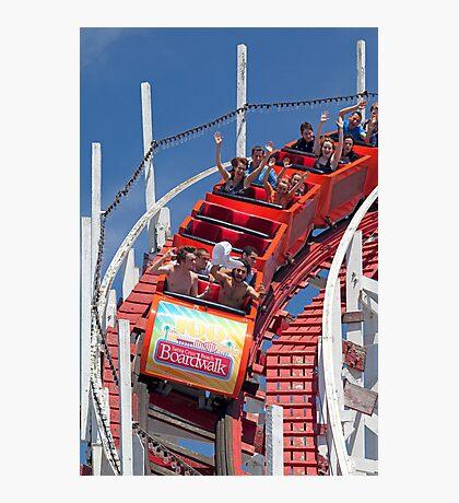 Wooden Roller Coaster (Santa Cruz, California) Photographic Print