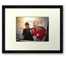 Fabulous celebrities Framed Print