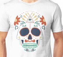 skull white Unisex T-Shirt