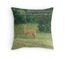 Thee do I put my trust Throw Pillow