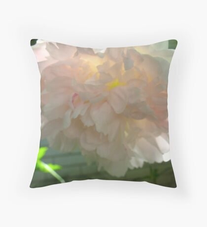 Incandescent Peony Throw Pillow