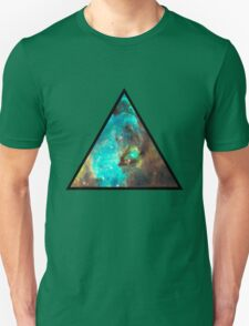 Green Galaxy Triangle Unisex T-Shirt