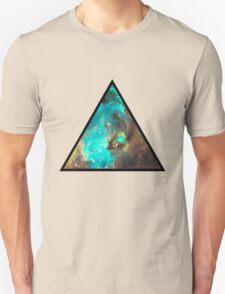 Green Galaxy Triangle Unisex T-Shirt
