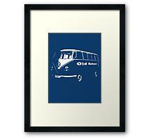 vw bus, Old School Framed Print