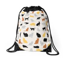 Colorful Cats Drawstring Bag