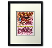 Pregnancy: Don't be a Drag! Pack your Bag! Framed Print