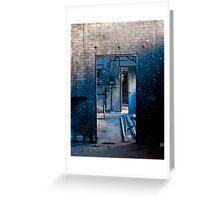 The Dirty Blue Doorway Greeting Card