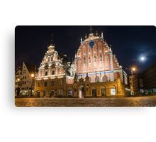 House of the Blackheads in Riga Canvas Print