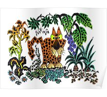 Nosey jaguar Poster