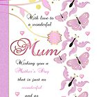Mother's Day Card For Mum With Butterflies by Moonlake