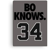 Bo Knows. 34 Canvas Print