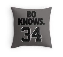 Bo Knows. 34 Throw Pillow