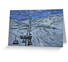 French Ski Lift  Greeting Card