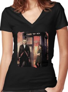 Capaldi Doctor Who Women's Fitted V-Neck T-Shirt