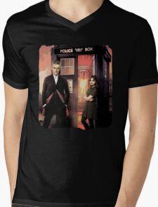 Capaldi Doctor Who Mens V-Neck T-Shirt