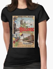 Gustave Fraipont Affiche Nord Hollande Womens Fitted T-Shirt