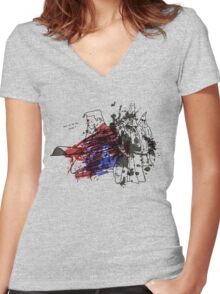 Superman's Problem Women's Fitted V-Neck T-Shirt