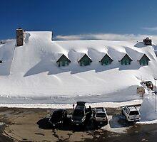 Winter at the Paradise Inn - Mt. Rainier N.P. by Mark Heller