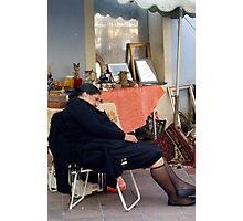 Tough Day Antiquing Photographic Print