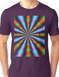 Orange Green Blue and Violet Pleats Unisex T-Shirt