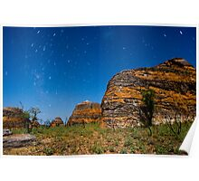 Swirling night lights over purnululu Poster