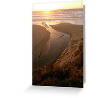 Pacific Sunset Tide Greeting Card