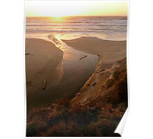 Pacific Sunset Tide Poster