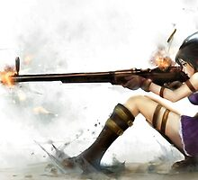 Caitlyn The Sheriff Of Piltover (League of Legends) by Adam Waudby