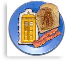 Whovian Breakfast Canvas Print