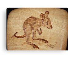 Eastern Grey Kangaroo Joey on Silver Ash Canvas Print