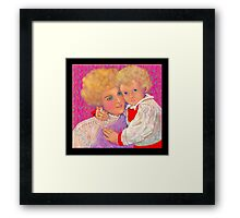 'A Mother's Love', Mother and Child #3 Framed Print