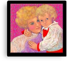 'A Mother's Love', Mother and Child #3 Canvas Print