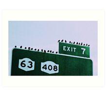 Exit 7 Art Print