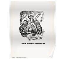 Theodor Kittelsen Ordsprog af Th Kittelsen Man faar tude med de Ulve man er sammen med Poster