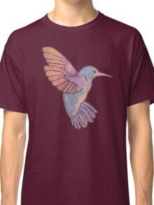 hummingbird doodle mandala boho pastel cute tattoo animal Classic T-Shirt