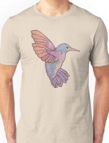hummingbird doodle mandala boho pastel cute tattoo animal Unisex T-Shirt