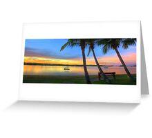 Noosa River Sunset Panoramic Greeting Card